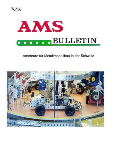 AMSclub Titelbild Bulletin 76/2016