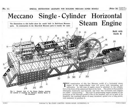 Single-Cylinder Horizontal Steam Engine