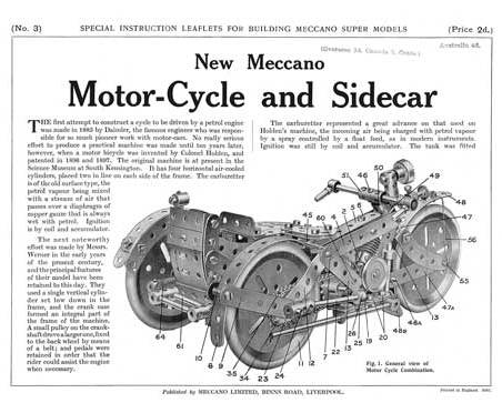 Motor-Cycle and Side car