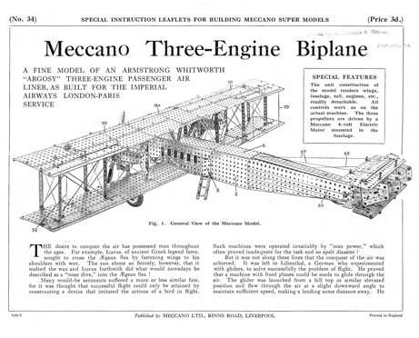Three-Engine Biplane
