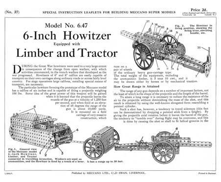 6-Inch Howitzer, Limber & Tractor
