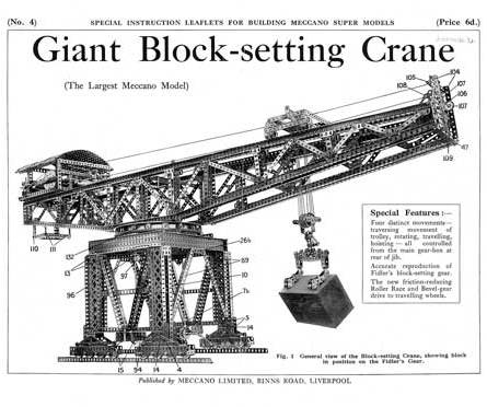 Giant Block-setting Crane