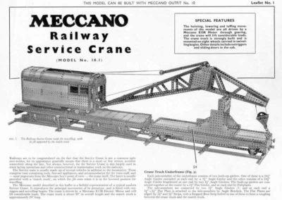 Railway Service Crane