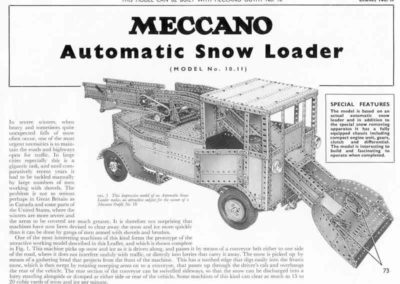 Automatic Snow Loader