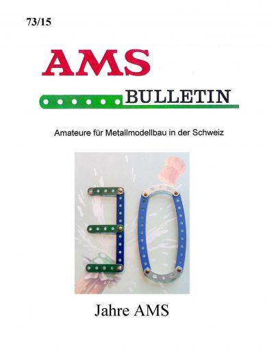 AMSclub Titelbild Bulletin 73/2015