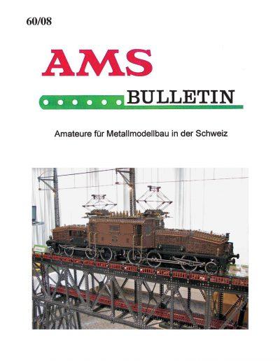 AMSclub Titelbild Bulletin 60/2008