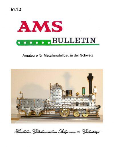 AMSclub Titelbild Bulletin 67/2012