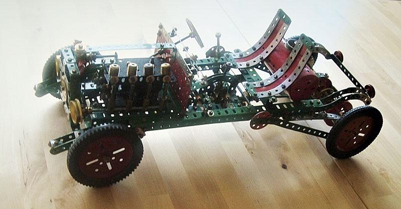 Motor chassis von vorne seitlich