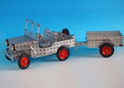 Willys Jeep mit Anhänger