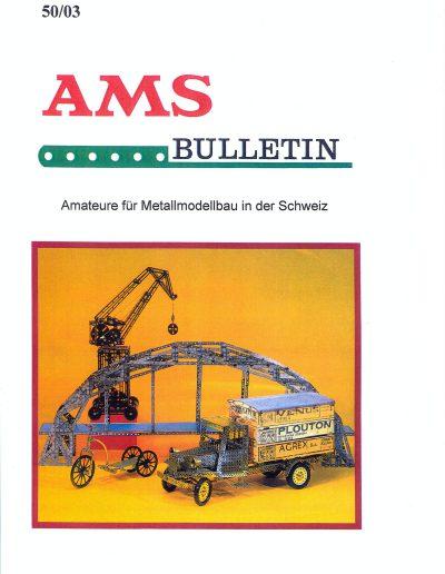 AMSclub Titelbild Bulletin 50/2003