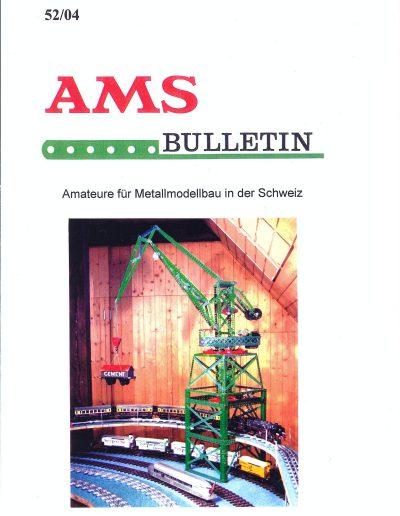 AMSclub Titelbild Bulletin 52/2004