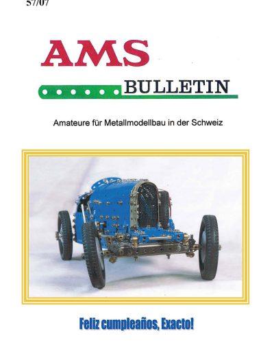 AMSclub Titelbild Bulletin 57/2007