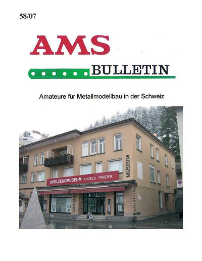 AMSclub Titelbild Bulletin 58/2007