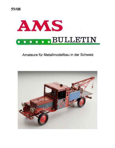 AMSclub Titelbild Bulletin 59/2008
