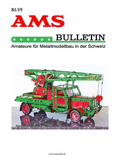 AMSclub Titelbild Bulletin 81.2019T