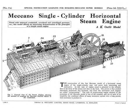 Single-Cylinder Horizontal Steam Engine (revised)