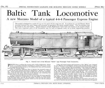 Baltic Tank Locomotive