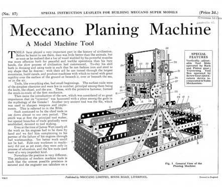 Planing Machine
