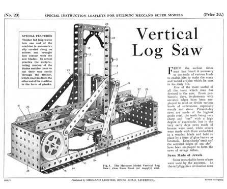 Vertical Log Saw