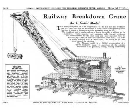 Railway Breakdown Crane