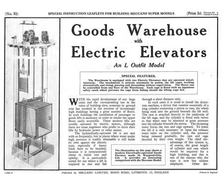 Goods Warehouse with Elevators