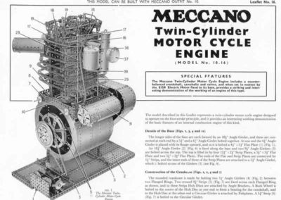 Twin Cylr. Motor Cycle Engine
