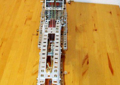Eisenbahnkran von oben