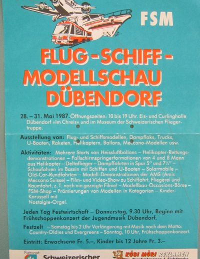 Flyer Flugmodellschau 1987